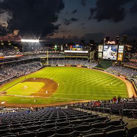 Turner Field by Anton Labao - Sports & Fitness Baseball