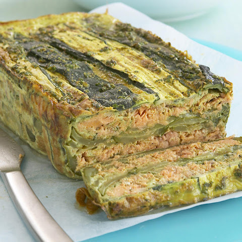 Curried Salmon and Zucchini Terrine