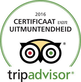 Spaans Dak Tripadvisor Certificaat van Uitmuntendheid 2016 Tripadvisor