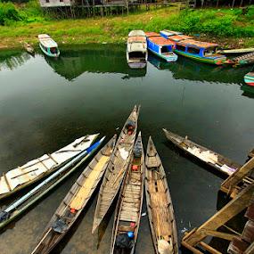jukung jukung by Rachmat Sandiko - Transportation Boats