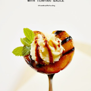 Grilled Peaches with Teriyaki Sauce