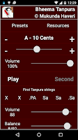 Screenshot of Bheema Tanpura Pro
