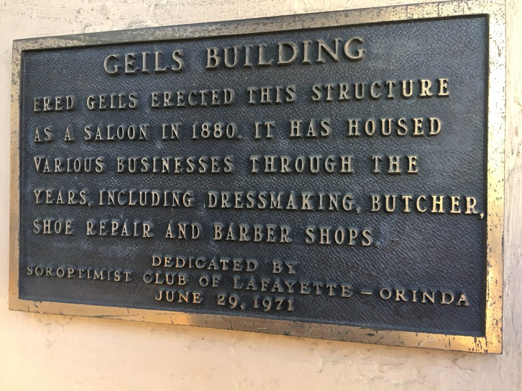 GEILS BUILDING FRED GEILS ERECTED THIS STRUCTURE AS A SALOON IN 1880. IT HAS HOUSED VARIOUS BUSINESSES THROUGH THE YEARS, INCLUDING DRESSMAKING, BUTCHER, SHOE REPAIR AND BARBER SHOPS. DEDICATED BY ...
