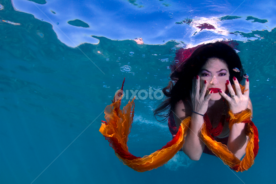 Mermaid Tales by Rico Besserdich - People Fine Art ( underwater model egypt woman girl art fine underwaterphoto sea ocean diving diver )