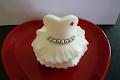 White Dress Cupcake Topper