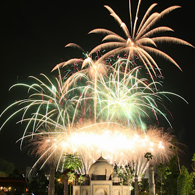 Lego Taj Mahal Firework by ChengYang Kng - City,  Street & Park  Amusement Parks ( amazing, firework, legoland, lego countdown )