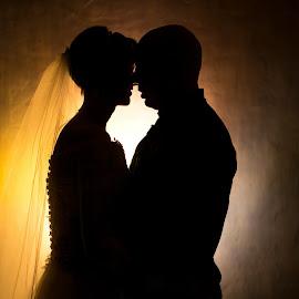 Silhouettes by Lodewyk W Goosen (LWG Photo) - Wedding Bride & Groom ( wedding photographers, wedding day, weddings, wedding, silhouettes, bride and groom, wedding photographer, bride groom )