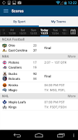 Screenshot of FOX Sports Mobile