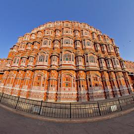 Hawa Mahal, Jaipur (India) by Ramakant Sharda - Buildings & Architecture Statues & Monuments ( hawa mahal, pick city, jaipur, monument, india, architecture )