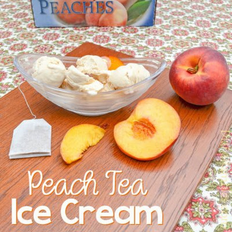 No Churn Peach Tea Ice Cream