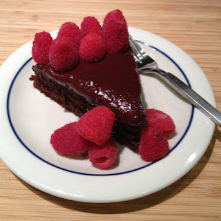 Chocolate Raspberry Upside-Down Cake