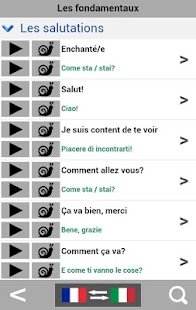 French to Italian phrasebook - screenshot