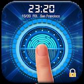 Fingerprint Lock Screen with Clock Dashboard