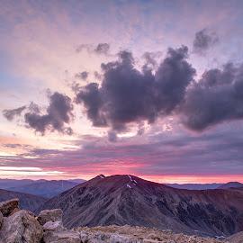 Summit Sunrise by Max Moorman - Landscapes Mountains & Hills ( clouds, mountains, sunrises, mountain, colorful, sunsets, sunset, colorado, cloud, sunrise, rocks )