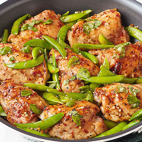 Chicken & Snap Pea Skillet