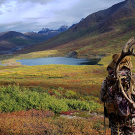 Success, Relief, Fulfillment by Cody Christopher - Landscapes Mountains & Hills ( backcountry, outdoors, nature, alaska, wilderness, hunting, landscape )