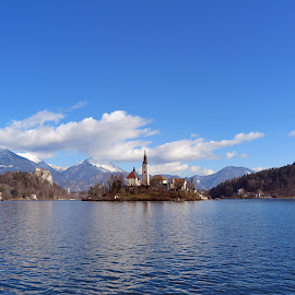 Lake Bled - Panorama by Almas Bavcic - Landscapes Waterscapes