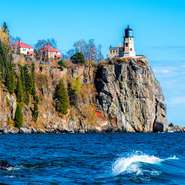 Split Rock Lighthouse by Gary Hanson - Buildings & Architecture Public & Historical ( lighthouse, north shore, lake superior, october, split rock )