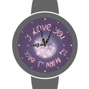 Valentine Moon Watch Face