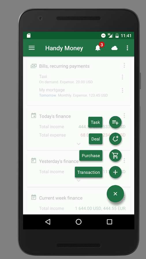 Handy Money - Expense Manager Screenshot 2