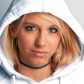 Ashley by John Edwin May - People Portraits of Women ( blonde, female, hood,  )