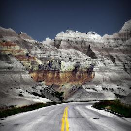 Into the Badlands by Kenneth Cox - Transportation Roads ( national park, nature, south dakota, badlands )