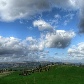 verdi pascoli in Sicilia by Patrizia Emiliani - Landscapes Prairies, Meadows & Fields ( pascoli, verdi, hdr, italia, sicilia )