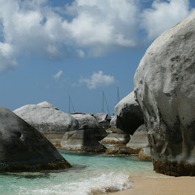 Boulders at the Baths by LeAnne Stevens - Landscapes Beaches