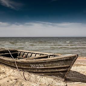 Azov sea by Alexander Bakhur - Instagram & Mobile Other ( nokia, sea, landscape, boat, mobile )