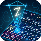 Keyboard-Hologram Neon Theme
