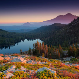 Shasta Sunrise by Ken Smith - Landscapes Travel ( mt shasta, sunrise, landscape )
