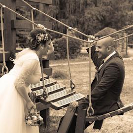 Bridge  by Vladimir Tufekchiev - Wedding Bride & Groom ( wedding, bridge, bride, groom )