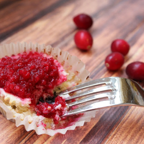 Cranberry Fudge Mini Cheesecakes