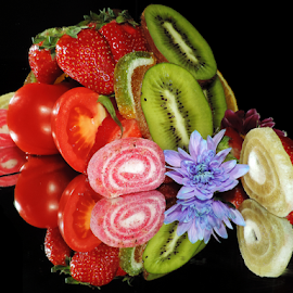 fruits,candys and flower by LADOCKi Elvira - Food & Drink Fruits & Vegetables ( fruits )