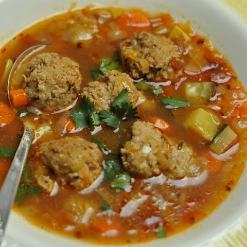Slow Cooker Mexican Meatball Soup
