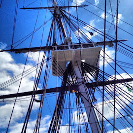 Looking up by Chris Winner - Transportation Boats ( #boat #ship #boston #massachusetts )