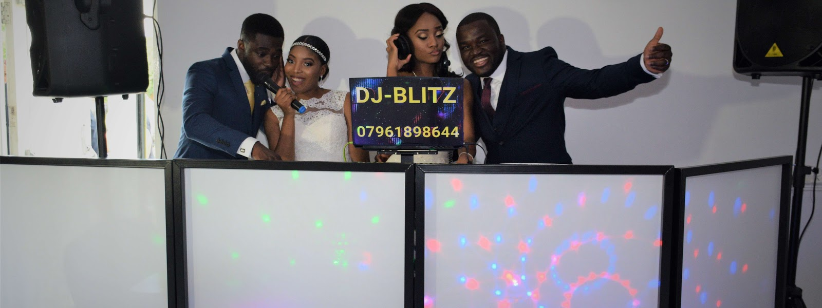 DJ-BLITZ at a double wedding reception. Twin sister's getting married on the same day.