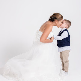 The Big Day by Mel Stratton - People Family ( child, dress, wedding, wife, woman, boy )