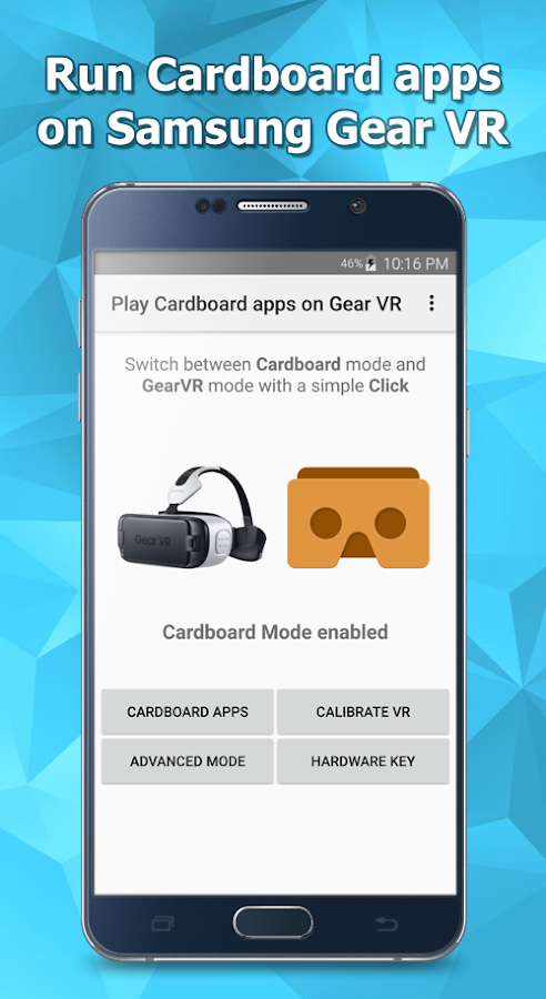 Play Cardboard apps on Gear VR Screenshot