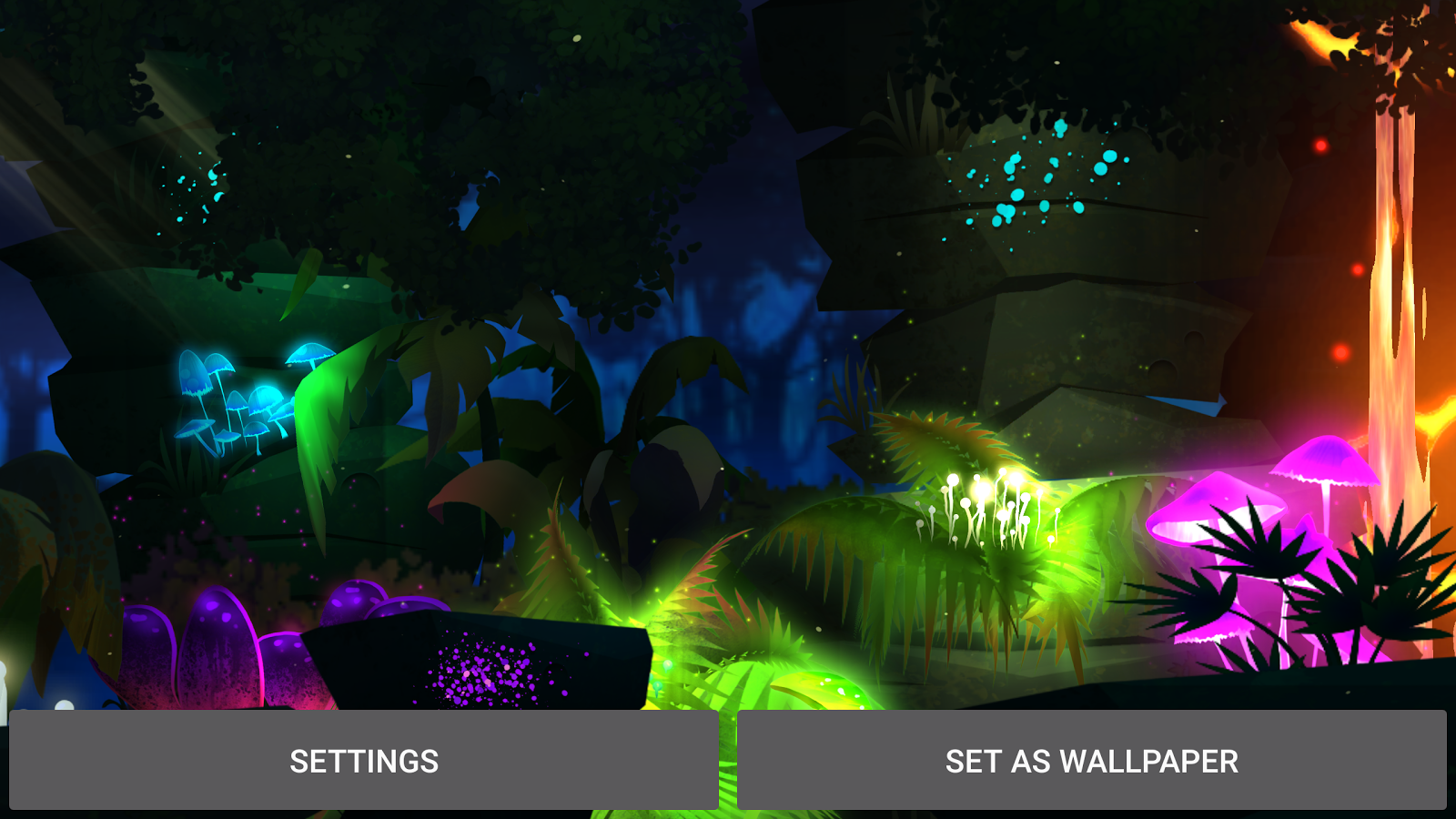 Firefly Jungle Live Wallpaper Screenshot 13