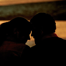 End of Day by Shari Brase-Smith - People Couples ( love, sunset, silhouette, couple, people )