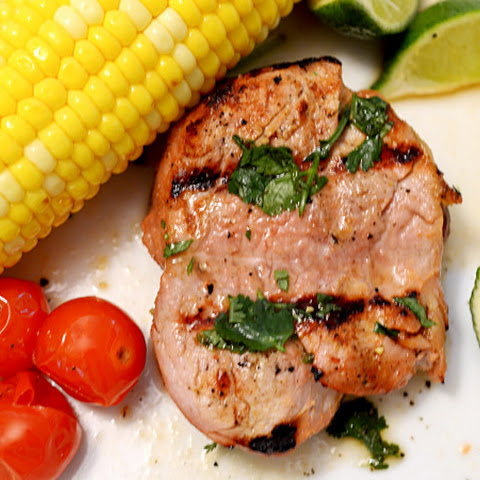 Alton Brown's Grilled Pork Tenderloin on Platter Talk