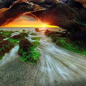 Water Cave by Agoes Antara - Landscapes Waterscapes