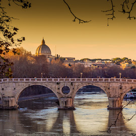 Ponte Sisto - Rome by Peter Liakopoulos - Buildings & Architecture Bridges & Suspended Structures ( rome, historical, travel, bridges, italy )