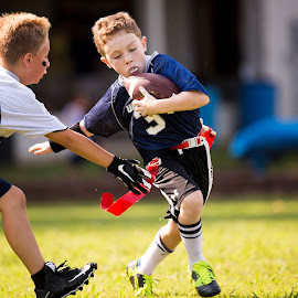 Flag Football by Robby Saint - Sports & Fitness American and Canadian football ( football, flag football, sports, kids, run )