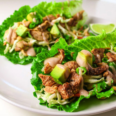 Caribbean Jerk Chicken Lettuce Wraps