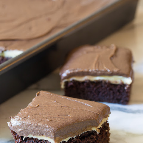 Chocolate Mint Texas Sheet Cake