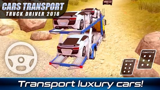 Cars Transport Truck Driver 2018