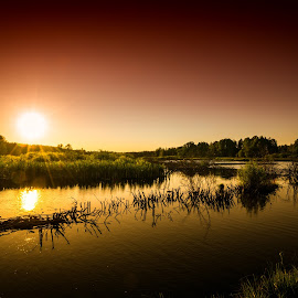 Summerdream by Lars-Ove Törnebohm - Landscapes Sunsets & Sunrises ( nature, sunset, tornephoto, katrineholm, landscape )