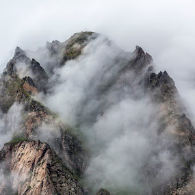Mountain fog by Benny Høynes - Landscapes Mountains & Hills ( mountains, nature, boiling, fog, norway )